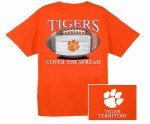 Clemson Tigers Cover The Spread T-Shirt SMALL