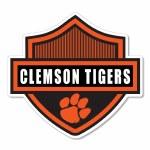 "Clemson Tigers 3"" Harley Shield Vinyl Decal"