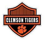 "Clemson Tigers 6"" Harley Shield Vinyl Decal"