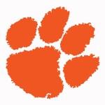 "Clemson Tigers 3"" Orange Paw Vinyl Decal"