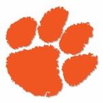 "Clemson Tigers 6"" Orange Paw Vinyl Decal"