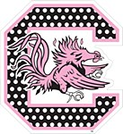 "South Carolina Gamecocks Block ""C"" Polka Dot 6"" Decal"