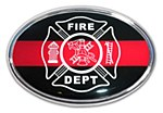FIRE Metal Auto Emblem