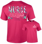 Southernology Floral Nurse T-Shirt SMALL