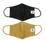 Pomchie 2Pk Face Masks GOLD DOTS/GOLD