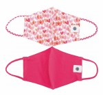 Pomchie 2Pk Face Masks HEARTS/PINK
