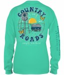 Simply Southern Country Road LONG Sleeve T-Shirt SMALL