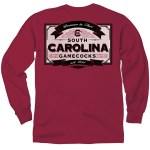 South Carolina Gamecocks Vintage Label LONG Sleeve T-Shirt SMALL
