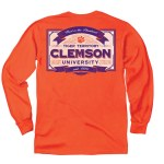 Clemson Tigers Vintage Label LONG Sleeve T-Shirt SMALL