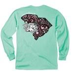 South Carolina Gamecocks Doodle State LONG Sleeve T-Shirt SMALL
