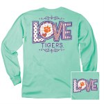 Clemson Tigers Love Long Sleeve Tee SMALL