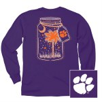 Clemson Tigers Mason Jar Long Sleeve Tee SMALL