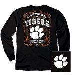 Clemson Tigers Label Long Sleeve Tee SMALL