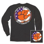 Clemson Tigers America Long Sleeve Tee SMALL