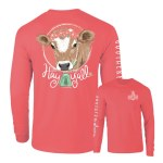 Southernology Hay Y'all Cow LONG Sleeve T-Shirt SMALL