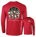 Southernology Not a Creature Stirring LONG Sleeve T-Shirt SMALL