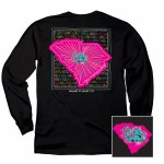 South Carolina Gamecocks State Pattern Long Sleeve Tee SMALL