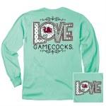 South Carolina Gamecocks Love Long Sleeve Tee SMALL