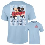 Southernology Life Liberty and Happy T-Shirt SMALL