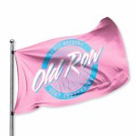 Old Row 3' x 5' Flag PINK