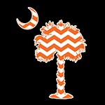 Palmetto Orange Chevron Decal