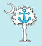 Palmetto Anchor Decal