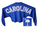 Palmetto Spirit Jersey Crop on ROYAL BLUE XS