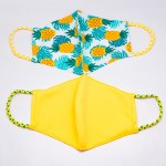 Pomchie 2Pk Face Masks PINEAPPLES/YELLOW
