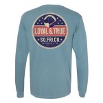 Southern Fried Cotton Red, White & Lab LONG Sleeve T-Shirt SMALL