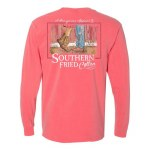 Southern Fried Cotton First Kiss LONG Sleeve T-Shirt SMALL