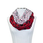 South Carolina Gamecocks Floral Infinity Scarf