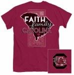 South Carolina Gamecocks Faith, Family & Carolina T-Shirt SMALL
