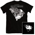 South Carolina Gamecocks One Color State T-Shirt SMALL