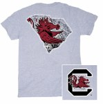 South Carolina Gamecocks Logo State T-Shirt SMALL