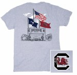 South Carolina Gamecocks 3-Flags T-Shirt SMALL