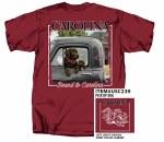 South Carolina Gamecocks Dog Truck T-Shirt LARGE