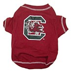 South Carolina Gamecocks Dog T-Shirt SM