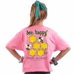Simply Southern Bee Happy T-Shirt Youth MEDIUM