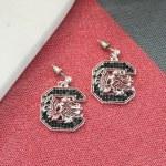 South Carolina Gamecocks Crystal Earrings