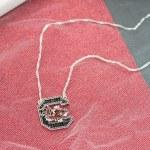 South Carolina Gamecocks Crystal Necklace