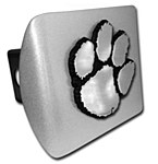 Clemson Tigers Brushed Metal Hitch Cover
