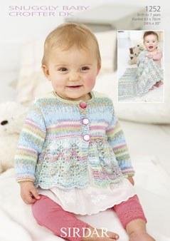 Sirdar 1252 Cardi Baby Crofter