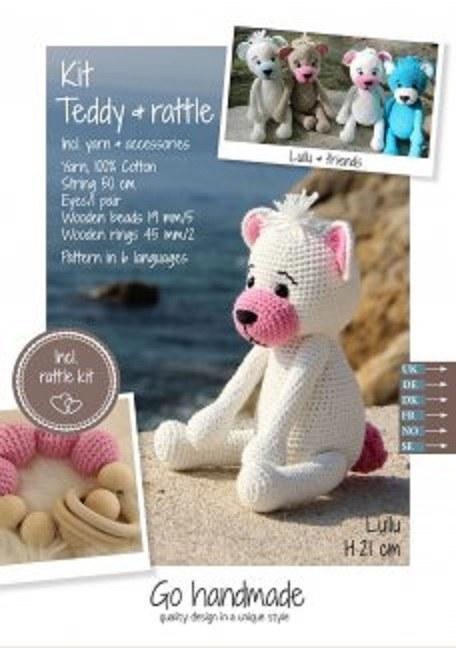 Crochet Kit Teddy & Rattle W/P