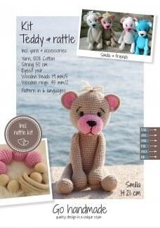 Crochet Kit Teddy & Rattle B/P
