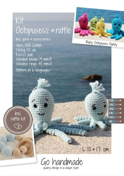 Crochet Kit Octopuses Blue