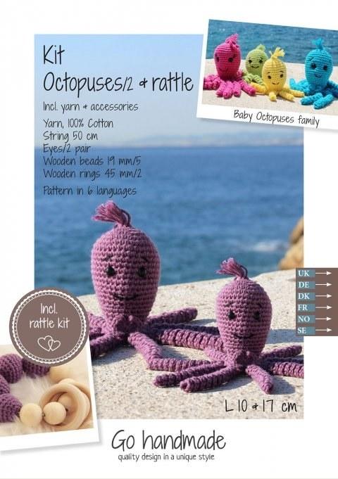 Crochet Kit Octopuses D Purple