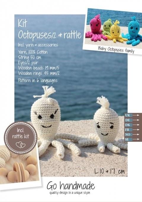 Crochet Kit Octopuses Off Whit