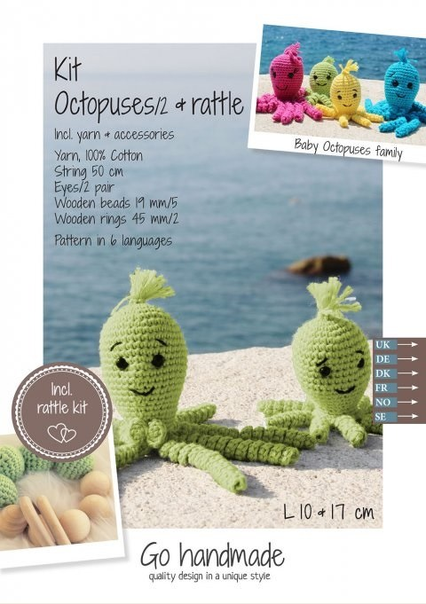 Crochet Kit Octopuses Lime