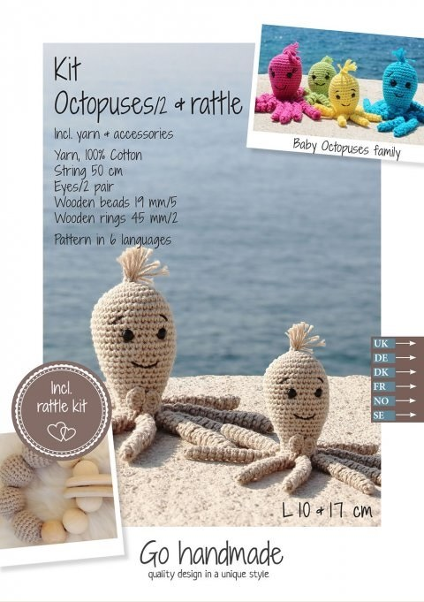 Crochet Kit Octopuses Beige