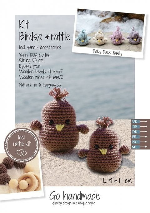Crochet Kit Baby Birds Dk Brow